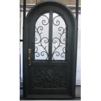 Buy cheap Arched wrought iron entry doors, single & double exterior iron front doors steel main wrought iron door from wholesalers
