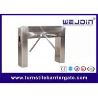 Semi auto tripod entrance turnstiles gate with Mechanism , Arc bridge Type
