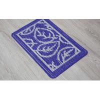 Buy cheap 100% Polyester Fleece Outdoor Door Mats Oblong Shape For Household Entrance from wholesalers