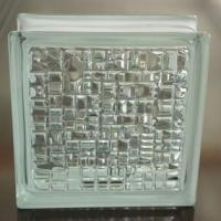Mosaic colorless 190x190x80mm jinghua glass blocks 101005801 for Hollow glass blocks for crafts