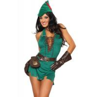 Buy cheap Hero Costumes Wholesale Green Velvet Suede Robin D Rich Dress Costume with size S to XXL from wholesalers