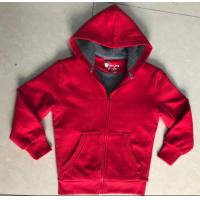 Buy cheap Red Childrens Fleece Coats , Boys Hooded Fleece Jacket Sherpa Lining from wholesalers