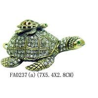 Buy cheap Metal Turtle Crystal Rhinestone Jewelry Box Trinket Box from wholesalers