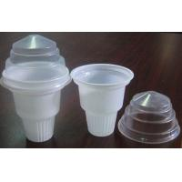Buy cheap 100ml 3oz White Disposable Ice Cream Cups Torch Disposable 6.7cm from wholesalers