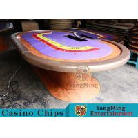 Durable Casino Poker Table , Wood Poker Table With Customized Grain Style