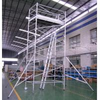 Buy cheap Tublar All - Around Aluminum Mobile Tower Scaffold ,Portable Scaffolding from wholesalers