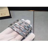 Buy cheap Cartier Love Bracelet 18K White Gold Diamond-Paved full diamond is cartier jewelry real gold from wholesalers