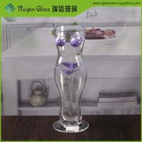 Buy cheap 500 ml cheap woman shape beer glass customised novelty bikini sexy beer glasses from wholesalers