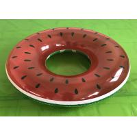 Buy cheap Outdoor Red Watermelon Ring Float for Adults / Kids Large Inflatable Floating Toys from wholesalers
