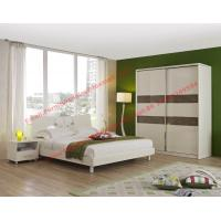 Buy cheap Popular hotel style apartment use MDF melamine panel furniture in bunk bed and siliding door wardrobe product