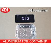 Buy cheap Recyclable D12 Tin Foil Take Out Containers 220ml Volume Aluminium Disposable Trays  from wholesalers