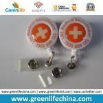 Buy cheap Custom Logo Imprinted Round Advertismental Retractable Badge Pull Reel from wholesalers
