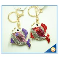 Buy cheap Lovely Goldfish Fish Cute Crystal Rhinestone Charm Pendant Purse Car Key Ring Keychain Party Favorite from wholesalers