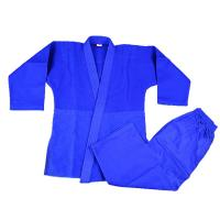 Buy cheap Professional manufacture martial arts judo uniforms 100% cotton blue judo gi from wholesalers