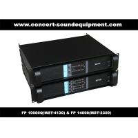 Buy cheap PA Sound Equipment , 4x1300W 8ohm High Power Output Switching Amplifier FP 10000Q from wholesalers