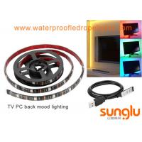 Buy cheap USB 5V 8mm 5050 RGB LED Strip Light Colour Changing  Laptop PC Back Mood Lighting from wholesalers