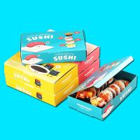 Buy cheap Sushi egg tart Pizza Environmental Single copper paper Colorful box package from wholesalers