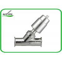 Buy cheap Double Acting Hygienic Valves Pneumatic Angle Seat Valve PTFE Seal Material from wholesalers