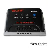 Buy cheap WELLSEE solar light controller WS-L2430 30A 12/24V solar light street charge regulator from wholesalers
