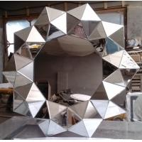 Buy cheap sloping glass frame mirrors Decorative Mirror Wall Art Mirror 3D Flower Mirrors from wholesalers