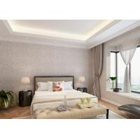 Bedroom PVC Country Style Wallpaper with Symmetrical Floral Pattern