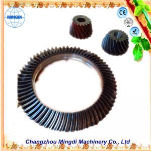 China Changzhou Mingdi Customized OD 1.5m Hopoid Spiral Bevel Gear / Helical Bevel Gear Set on sale