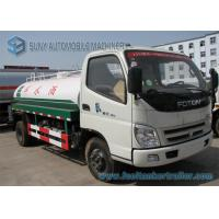 Buy cheap 2 Axles 2000 L -3000 L Sanitation Truck , Foton Water Tank Truck 103 hp 4*2 drive from wholesalers