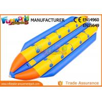 Buy cheap 0.9mm PVC Tarpaulin Inflatable Banana Boat / Inflatable Water Toys from wholesalers