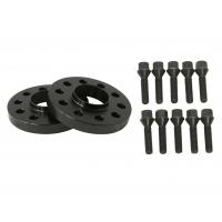 "25mm (1"") 5x120 Hubcentric 72.56 Black Wheel Spacers & 10 12x1.5 Cone Seat Bolts, black bolts"