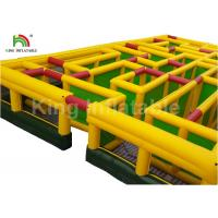 Buy cheap 15*15m Yellow Inflatable Obstacle Course Giant Laser Maze Outdoor Sports Games For Rent from wholesalers