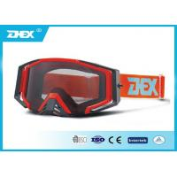 Buy cheap White red pink photochromic motorcycle goggle for mens , women / Motorcross Glasses from wholesalers