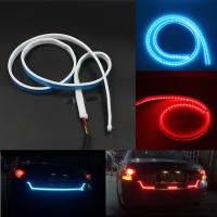 Buy cheap Car Styling RGB LED Strip Lights Rear Trunk Tail Light RGB Dynamic Streamer Brake Turn Signal Led Warning Lights Strips from wholesalers