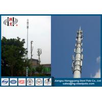 Buy cheap Powder coated Steel Tubular Pole , Wi-fi Monopole Tower with Inner Climbing Ladder from wholesalers