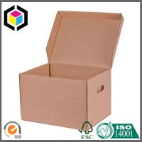 Buy cheap High Quality Corrugated Kraft Archive Box; A4 File Archive Cardboard Packaging Box from wholesalers