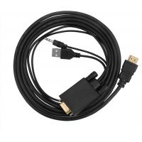 Buy cheap VGA To HDMI Converter Male To Male Connector With USB Power And Audio Cable product