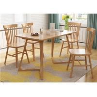 Buy cheap Breakfast Solid Oak Dining Table And Chairs , Square Rustic Dining Room Table from wholesalers
