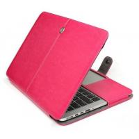 Buy cheap PU leather folio case for Macbooks,11.6,13.3,15.4& Air,Retina,Pro,rose color from wholesalers