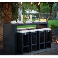 Buy cheap Leisure Aluminium Outdoor Garden PE Rattan wicker chair patio Backyard table and from wholesalers