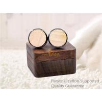 Buy cheap Luxury Men's Accessories Black Walnut Wooden Gift Boxed Cuff Links, Small Order, Quality Guarantee product