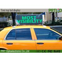 Buy cheap High Resolution P5 Waterproof Taxi LED Advertising Sign 110-240V Input from wholesalers