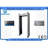 Buy cheap 6 Zone 5 No Count Led Walkthrough Metal Detector Door Frame For Security from wholesalers