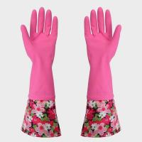 Buy cheap Latex coated safety Elbow Length Latex Gloves With Fish scale grip from wholesalers