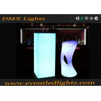 Buy cheap CE Passed Multi Color Changing commercial portable led cocktail table high top from wholesalers