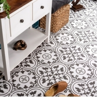 Buy cheap Bathroom 8.5mm Decorative Carpet Floor Tiles White And Black from wholesalers