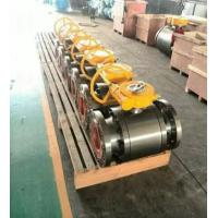 Buy cheap ANSI Class 150 Flanged End Ball Valve Gear Operated Forged Steel A105 LF2 from wholesalers