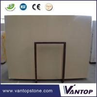 Buy cheap 18mm Prime Beige Artificial Marble Stone Slab for Bathroom Countertop from wholesalers
