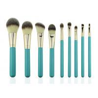 Eco Complete Natural Foundation Eye Makeup Brushes Professional Set 9pcs