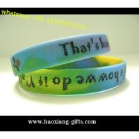 Buy cheap eco-friendly free sample custom debossed coloring silicone wristband/bracelet from wholesalers