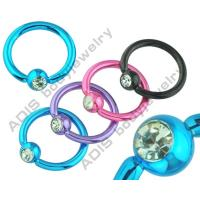 Buy cheap Nose Press Fit Stone Electronic Ball Closure Ring With Hand - Polishin from wholesalers