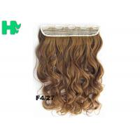 Buy cheap 22 Inch Gold Clip In Synthetic Curly Hair Extensions With Body Wave from wholesalers